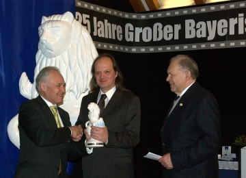 Big Bavarian Lion Handed by County Minister a.D. Erwin Huber